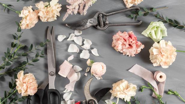 Le petit marché aux fleurs, bouquet de fleurs fraîches à Launaguet