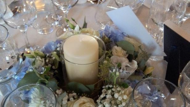 Création de centre de table pour mariage à Saint-Jean